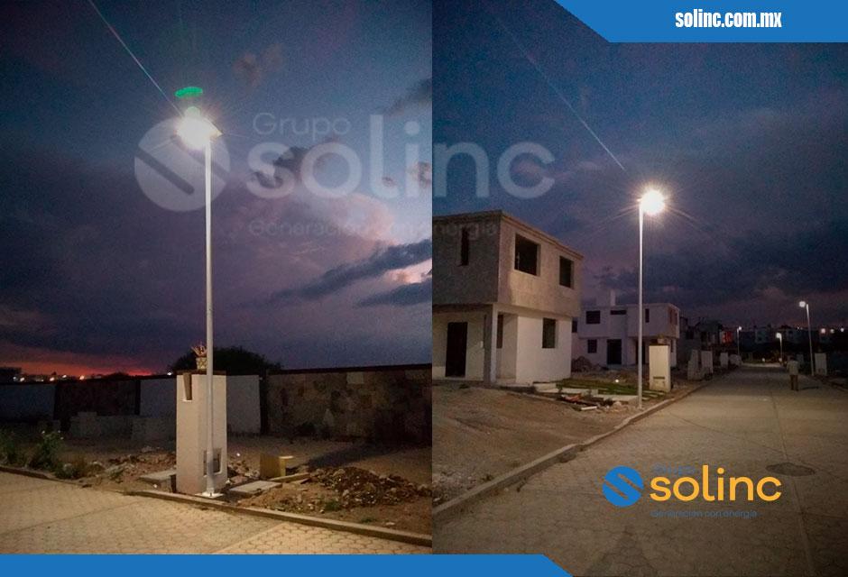 Luminarias en Postes Solares Solinc 10