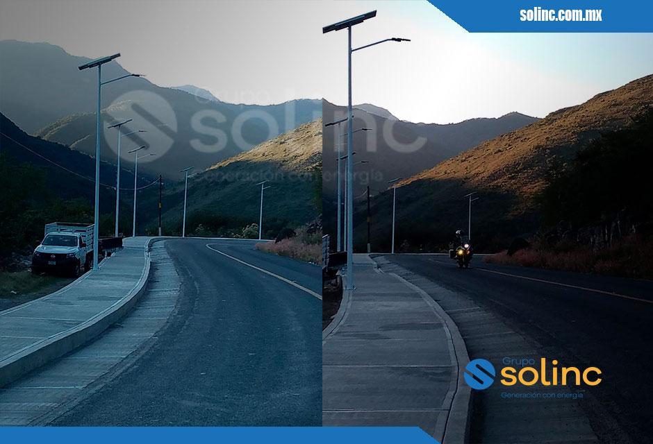 Luminarias en Postes Solares Solinc 2